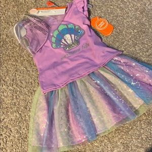 3 piece mermaid outfit